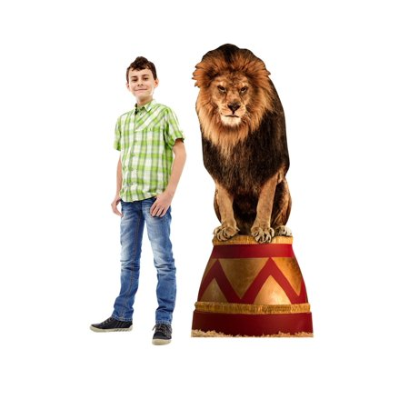 Circus Lion Cardboard Stand-Up, 5ft](Circus Decorations)
