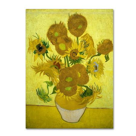 Trademark Fine Art 'Sunflowers 1887' Canvas Art by Vincent van Gogh