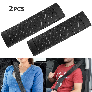 Truck Auto Comfortable Fabric SUV Premiun Quality 2Pcs Car Seat Belt Cover Soft Seatbelt Shoulder Pads Purple Beige Black for Adults Women Kids gray