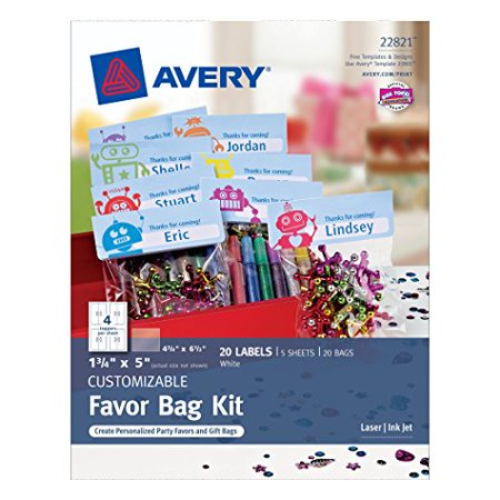 Avery Printable Bag Toppers with Bags - Bag Toppers
