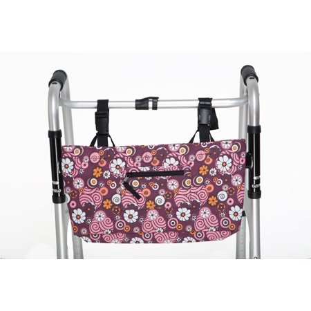 Beaded Flower Tote - RMS Water Resistant Tote Bag for Walker, Rollator or Scooter (Pinwheel Flower)