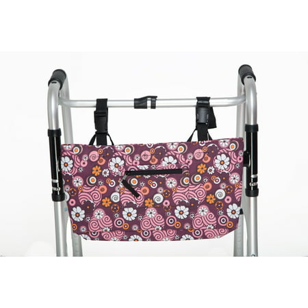 RMS Water Resistant Tote Bag for Walker, Rollator or Scooter (Pinwheel Flower)