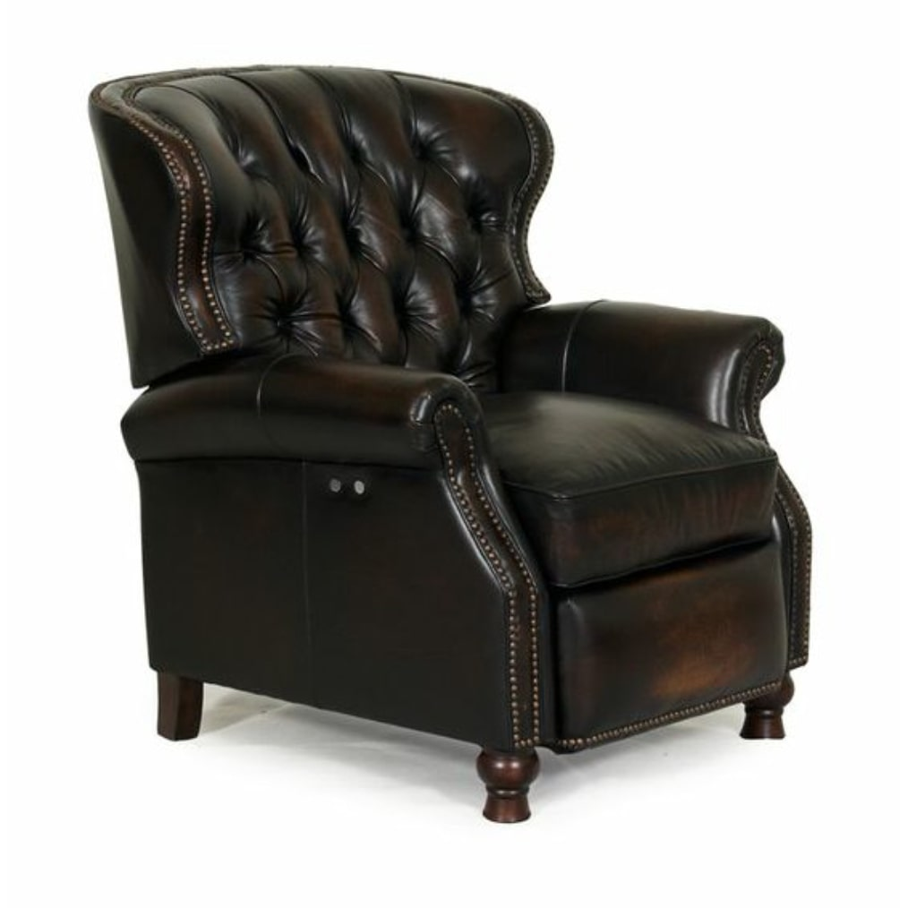 Barcalounger Presidential II Stetson Coffee Tufted Recliner