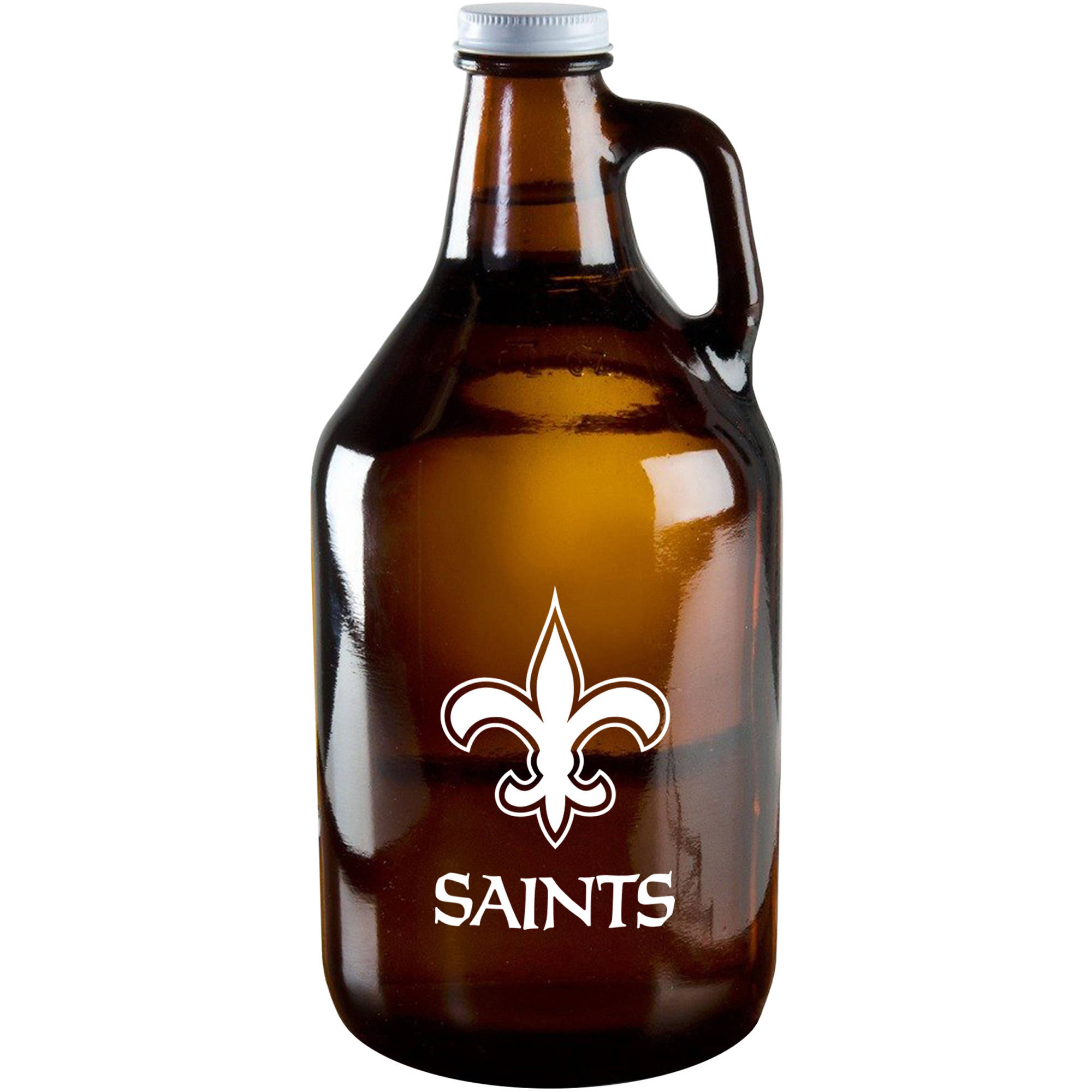 Boelter Brand NFL 64-Ounce Amber Growler Glass, New Orleans Saints