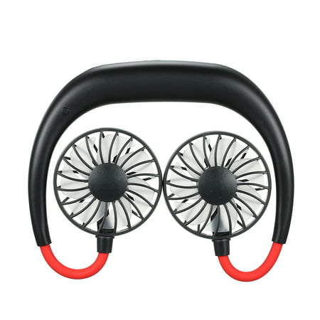 Portable Outdoor Wearable Sports Cool Fan Cooler Black - Halloween Sports Fan