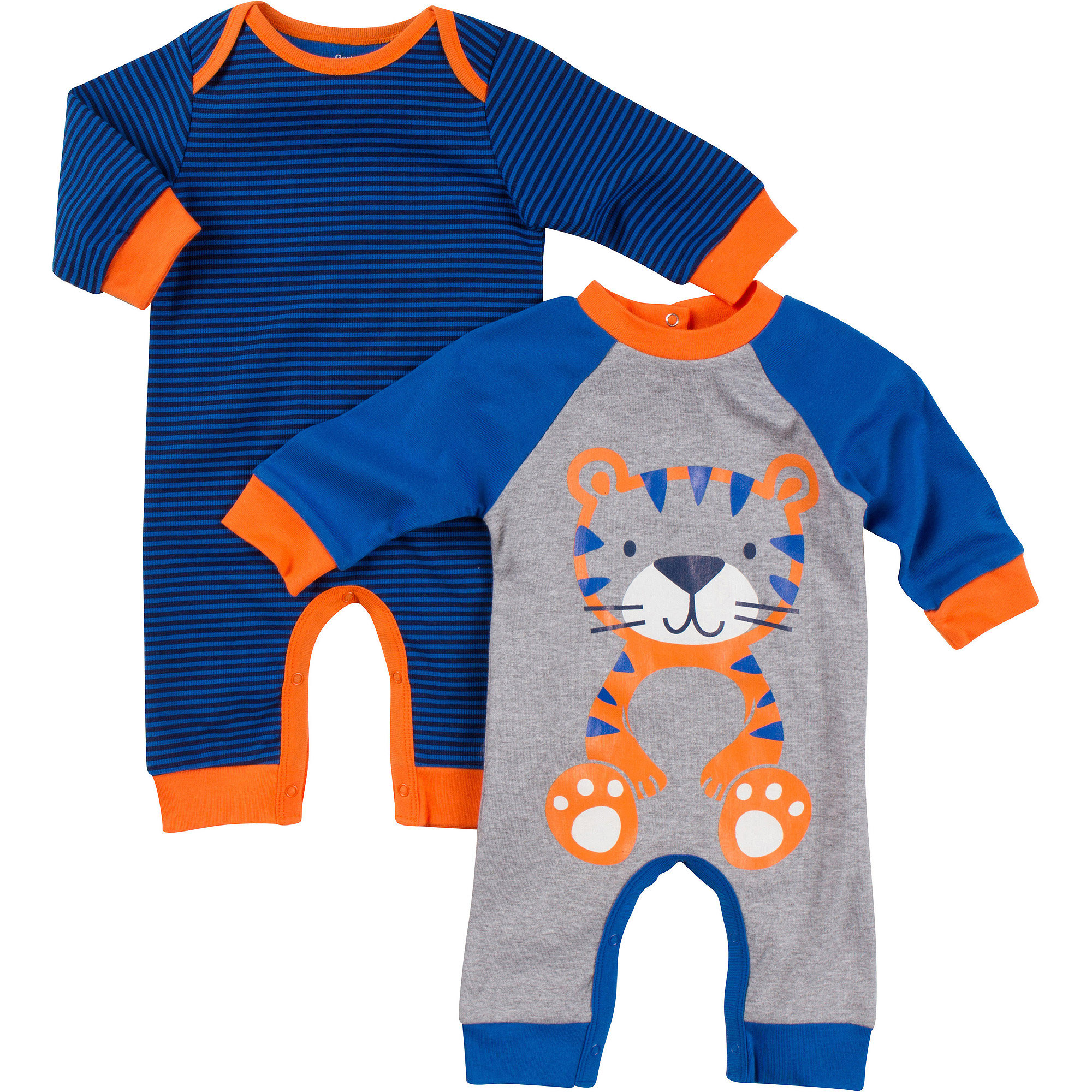 2pk Coverall Boy Nb- Tiger
