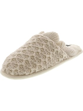 Nine West Women's Textured Knit Scuff Slipper Muslin Fabric - 10M