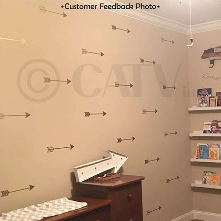 - Set of 27 Arrow Decal stickers tribal arrows wall decal vinyl lettering wallpaper (Gold)