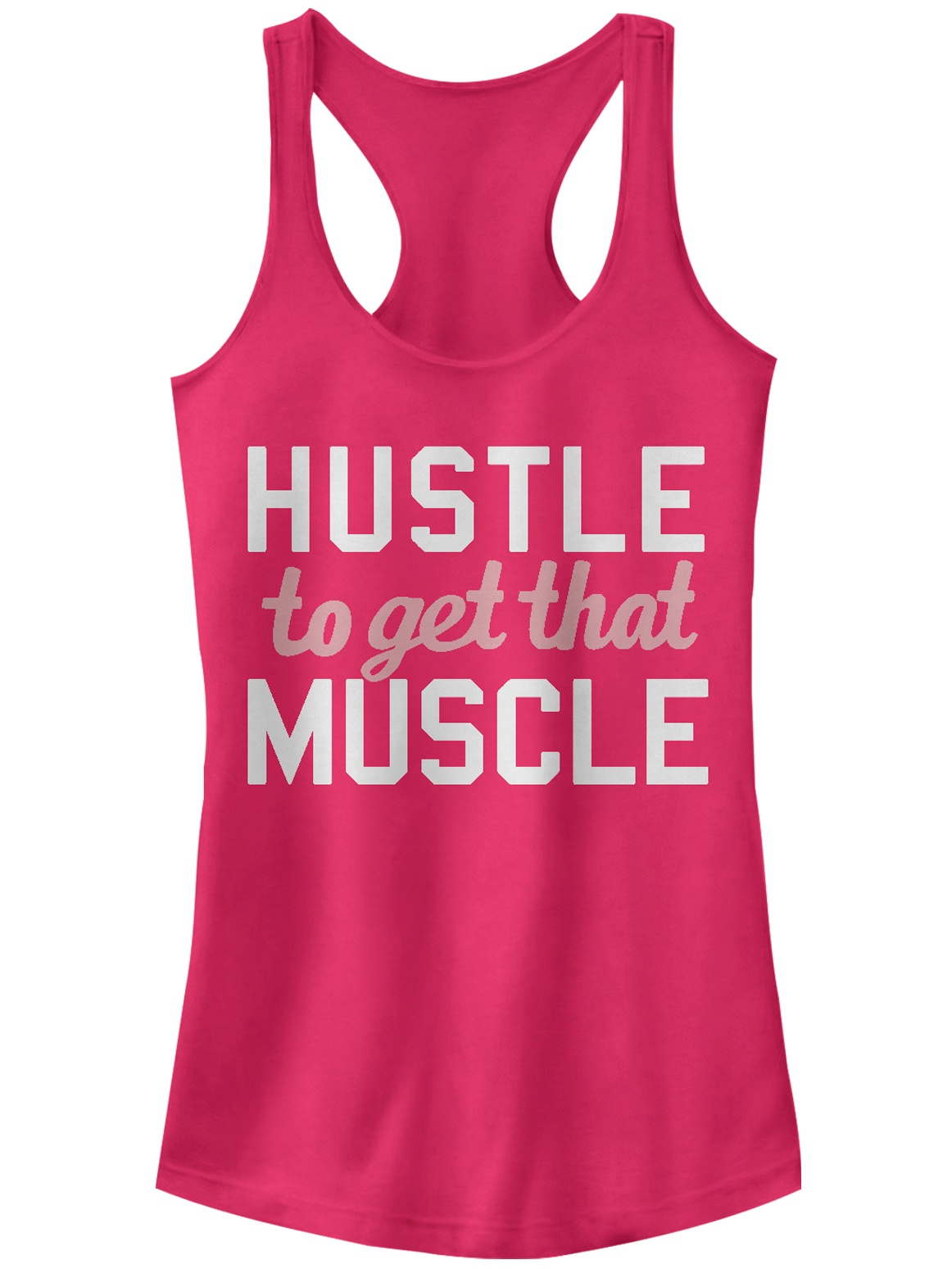 Chin Up Juniors' Hustle to Get Muscle Racerback Tank Top