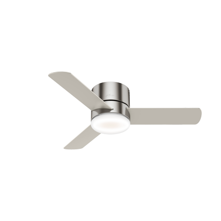 Hunter Minimus 44 in. Reversible Blade Indoor Ceiling Fan with LED Light Kit and (Hunter 44 In Brushed Nickel Ceiling Fan)
