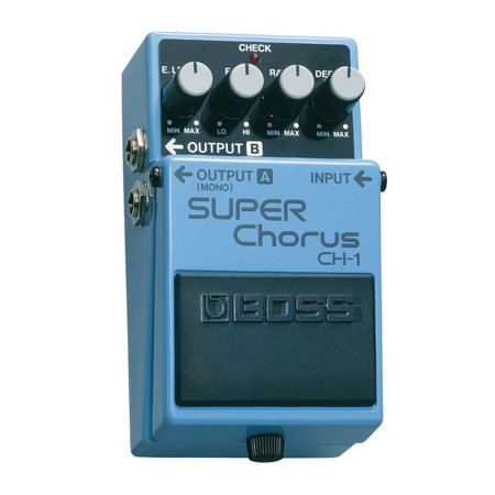 Boss CH-1 Super Chorus Stereo Pedal Effect Accessory for Guitar and Keyboards