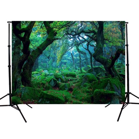 5x3FT Photo Studio Props Photography Vinyl Fabric Backdrop Background Nature Jungle Forest Tree Spring