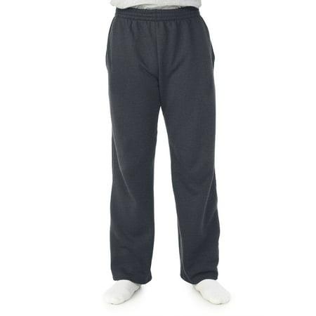 Big Men's Soft Light-Weight Fleece Open Bottom Sweatpant, with (Best Fruit Of The Loom Mens Sweatpants)