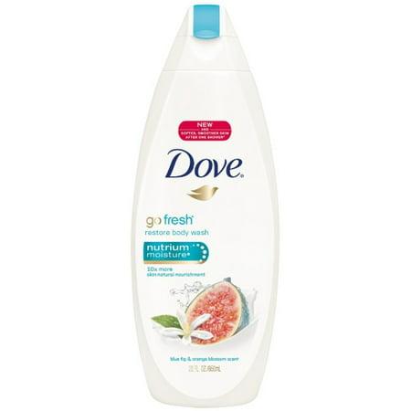 Dove go fresh Restore Body Wash, Blue Fig & Orange Blossom 22 oz (Pack of 3)