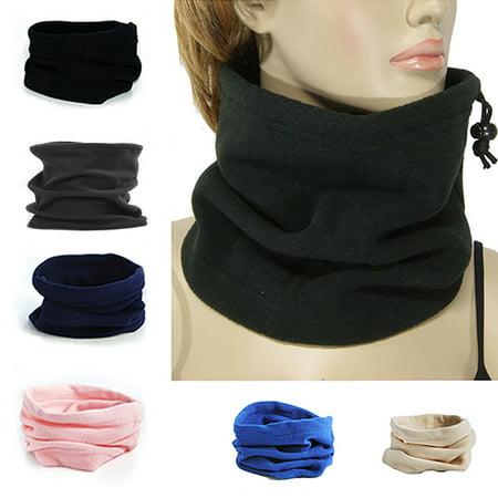 ZeAofa 4 In 1 Winter Sports Thermal Fleece Scarf Snood Neck Warmer Face Mask Beanie Hat