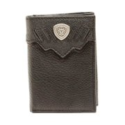 Ariat Western Wallet Mens Trifold Leather Shield Black A3522201