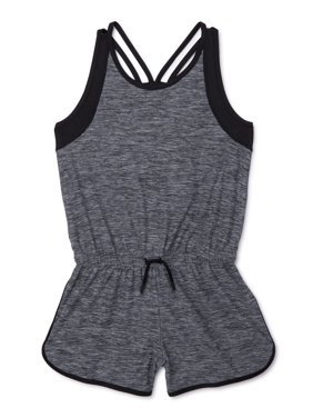 Athletic Works Heathered Racerback Active Romper Girls' 4-18 & Plus