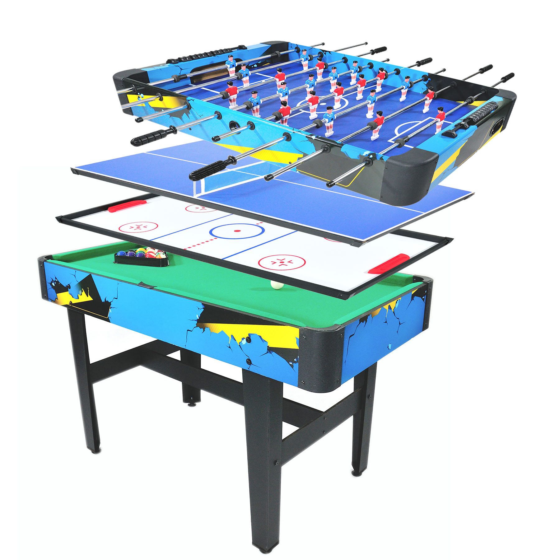 "Foosball Table 48""/50""/55""/72""/84"" Competition Sized Soccer Game Table/Air Hockey Table for Family Use Game Room"