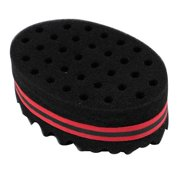 Yaheetech Hair Sponge Brush Double Sided For Twists Coils Curls in Afro Style Barber Black