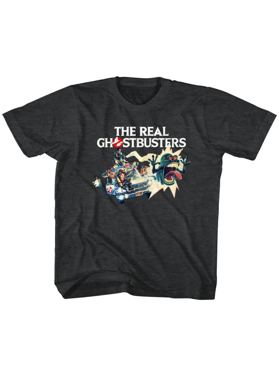 The Real Ghostbusters TV Series Car Chase Toddler Little Boys T-Shirt Tee