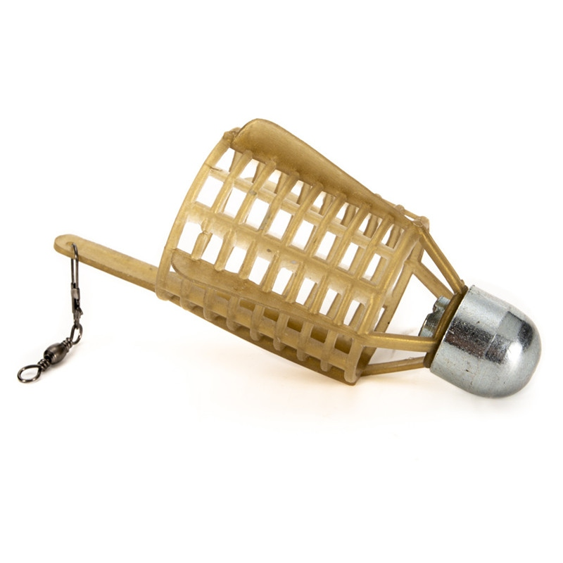 Carp Fishing Feeder Lure Cage Feeders Trap Basket with Lead Sinker Bait Cage EP