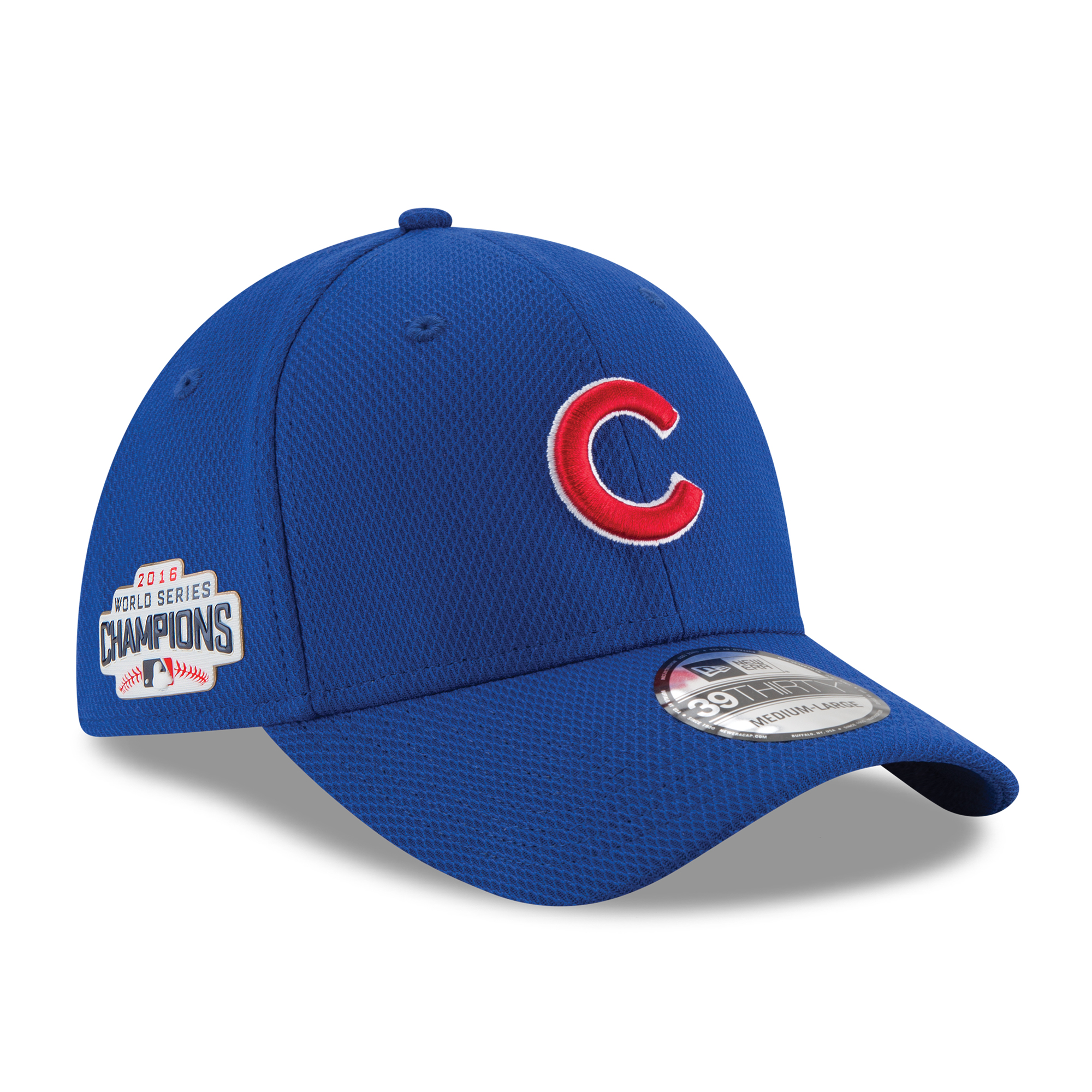 Chicago Cubs New Era 2016 World Series Champions Locker Room Clubhouse 39THIRTY Flex Hat - Royal