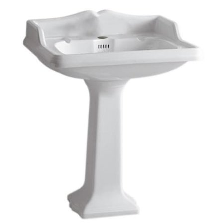 Whitehaus AR834-AR805 Fixture Pedestal Sink Vitreous China from the China series