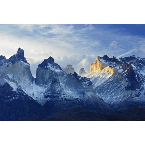 Chile Patagonia Torres Del Paine National Park Los Cuernos Sunset Poster Print By Jaynes Gallery Walmart Com Walmart Com