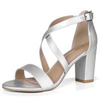 44d345419c87b4 Unique Bargains Women s Cross Straps Chunky Heel Dress Sandals
