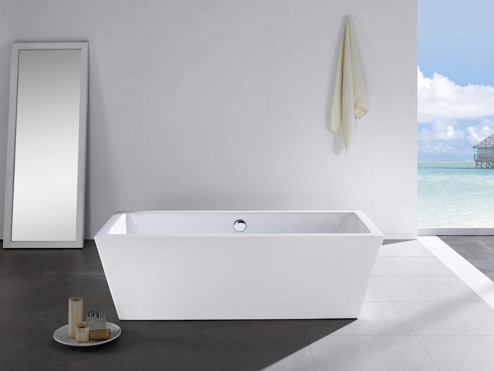 Wynn 65 X 31 White Rectangle Soaking Bathtub By Pacific Collection Walmart Com Walmart Com