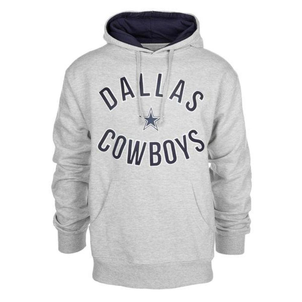 Dallas Cowboys Athletic Gray Welch Pullover Hoodie