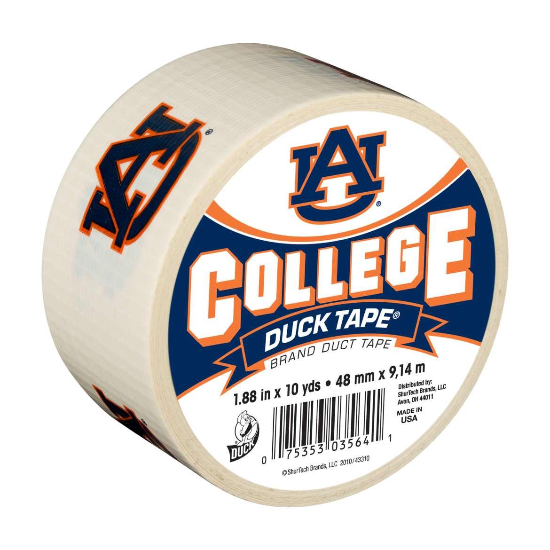 "Duck Brand College Logo Duck Tape, 1.88"" x 10 yard, Auburn Tigers"