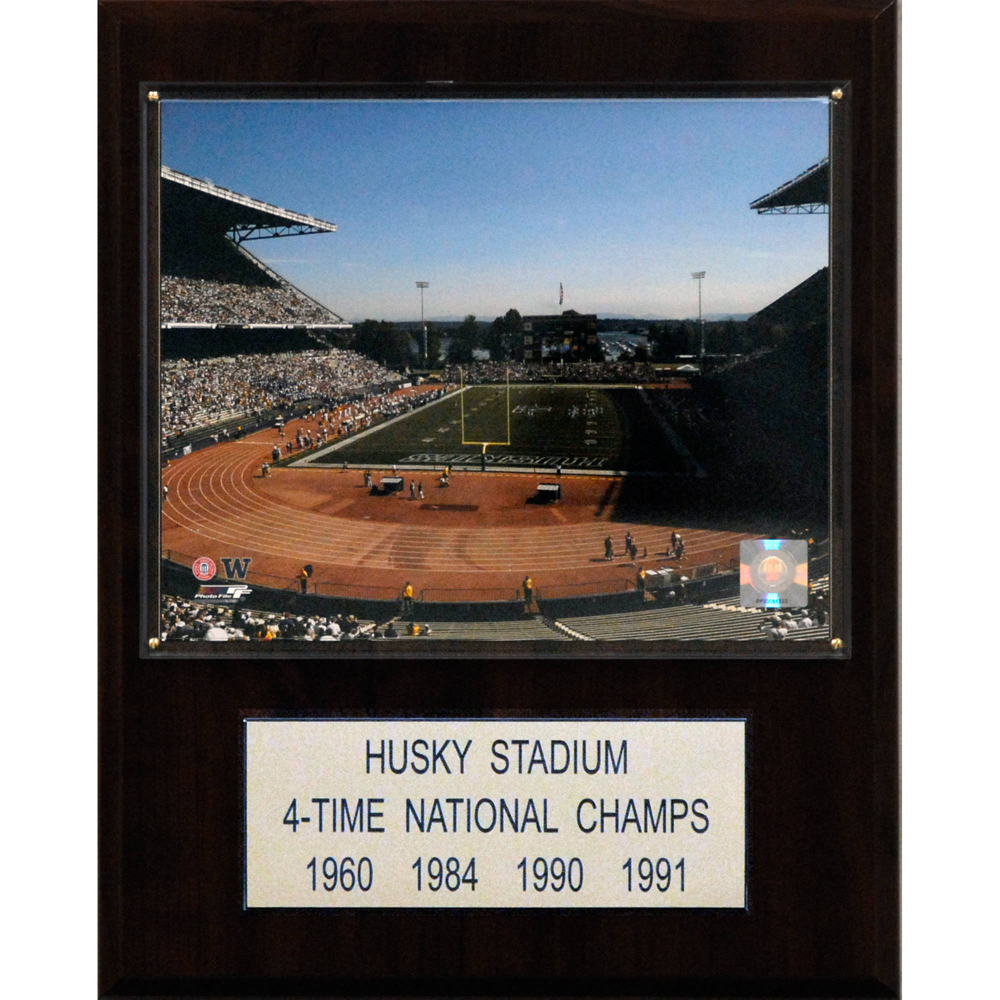 C&I Collectables NCAA Football 12x15 Husky Stadium Stadium Plaque