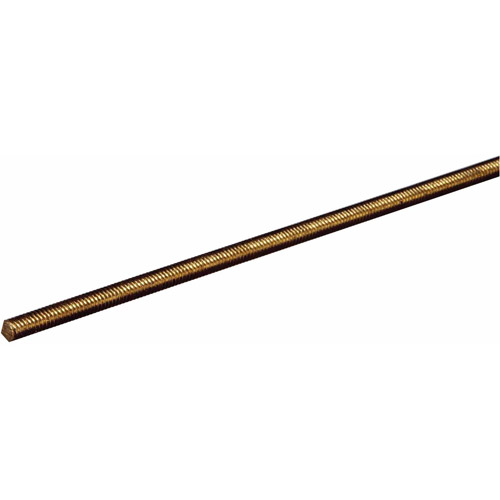"""Boltmaster Steelworks 11511 Threaded Rod NF Brass, 5/16""""-18 x 12"""""""