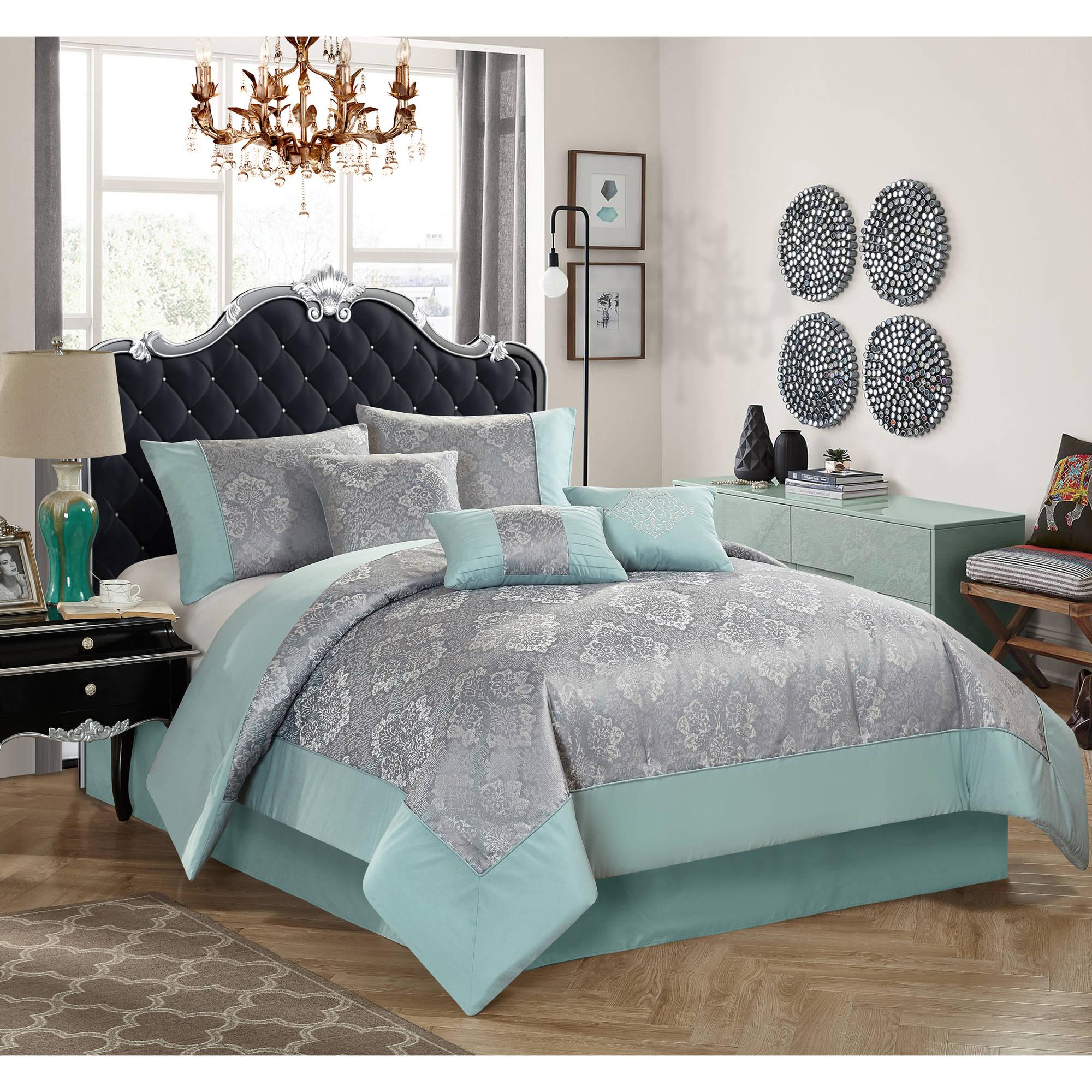 Better Homes And Garden Mint Ogee 7 Piece Bedding