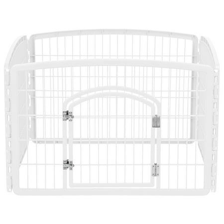 Iris Small Animal (IRIS 24' Exercise 4-Panel Pet Playpen,)