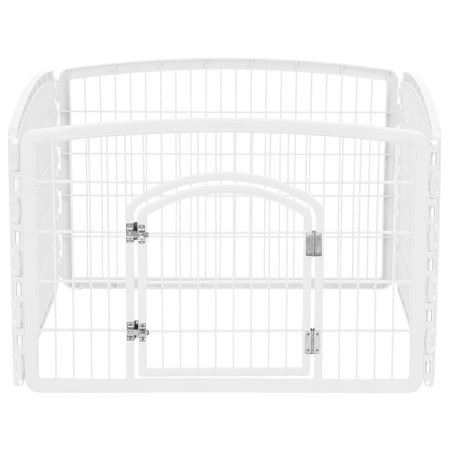 IRIS 24' Exercise 4-Panel Pet Playpen, White