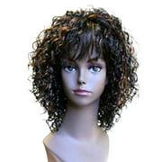 Fashion women short curly E DELORES professional wig Auburn