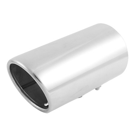 "Unique Bargains Car Universal silver Tone Oval Slant Cut Tip Exhaust Muffler 3"" Inlet Dia"