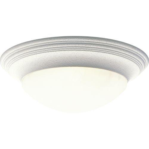 "Progress Lighting P3697 Alabaster Glass 16-5/8"" Three Light Flush Mount Ceiling"