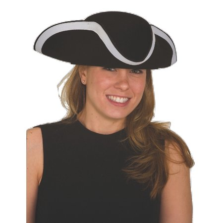 b6760741 Tricorne Hat Import Crushable Wool Felt LG/XL Colonial Costume Puritan Hat  - Walmart.com