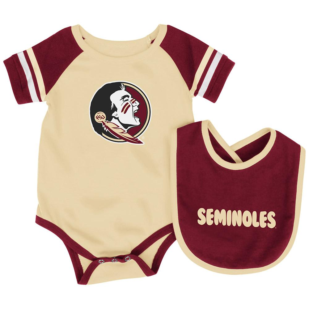 Florida State Baby Roll Out Bodysuit and Bib Set, 0-3 Months by Colosseum