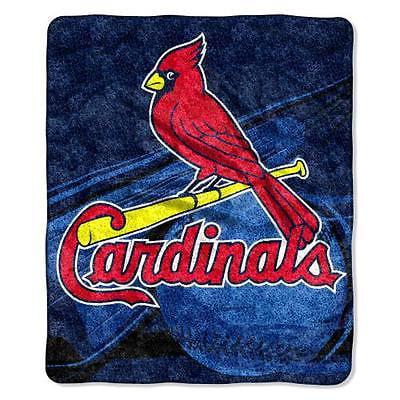 St. Louis Cardinals Blanket 50x60 Sherpa Big Stick Design