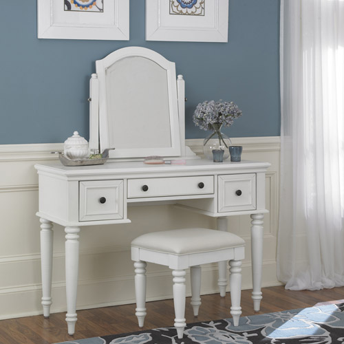 Home Styles Bermuda Vanity and Bench, White