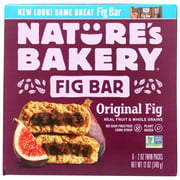 (6 Pack) Nature'S Bakery Stone Ground Whole Wheat Fig Bar - Original , 6/2 Oz