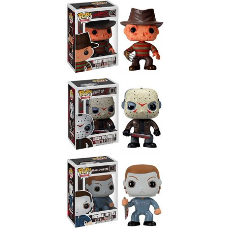 Horror Classics Funko POP! Movies Jason Voorhees, Freddy Krueger, & Michael Myers Set of 3 Vinyl Figures - Jason Voorhees 1981