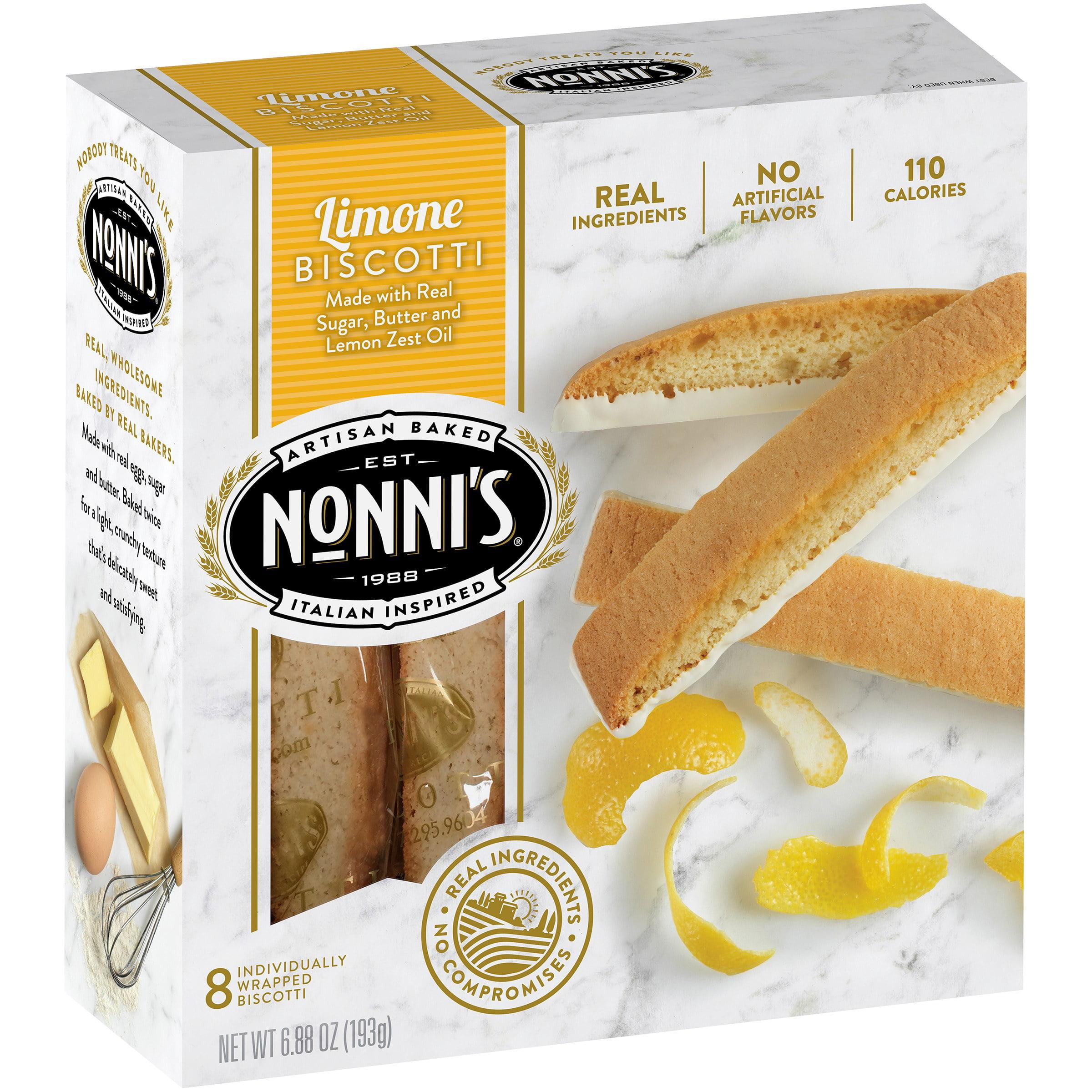Nonnis Limone Biscotti 8 ct Box by Nonni?s Foods LLC