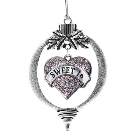 Pink Sweet 16 Heart Holiday Ornament