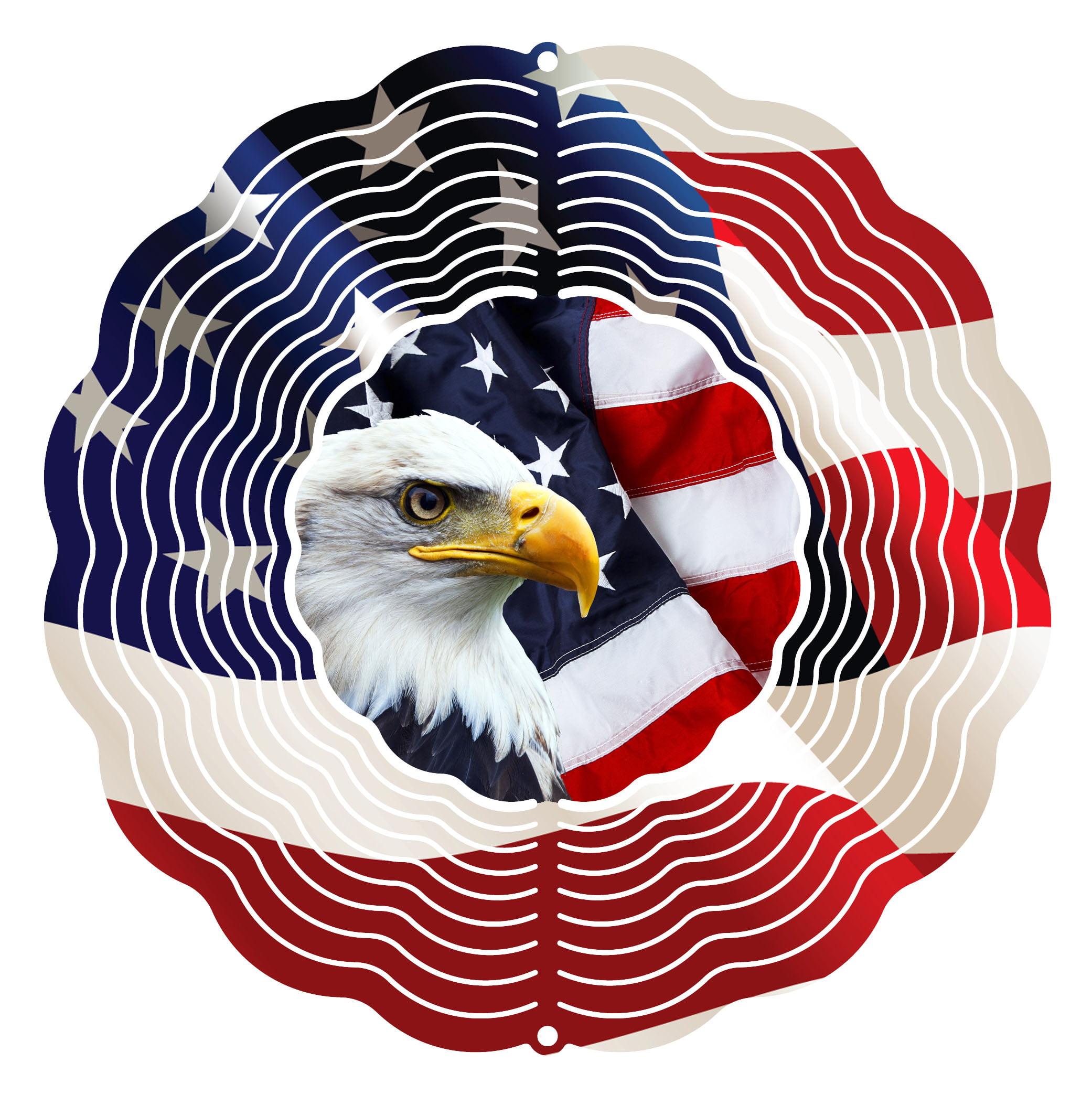 "Garden Wind Spinner Eagle Flag 10"" Wind Spinner by Next Innovations"