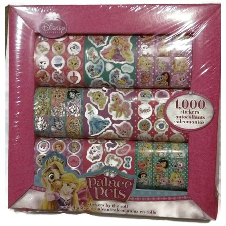 Disney Princess Palace Pets 1000 Stickers By the Roll (Disney Princess Stickers)